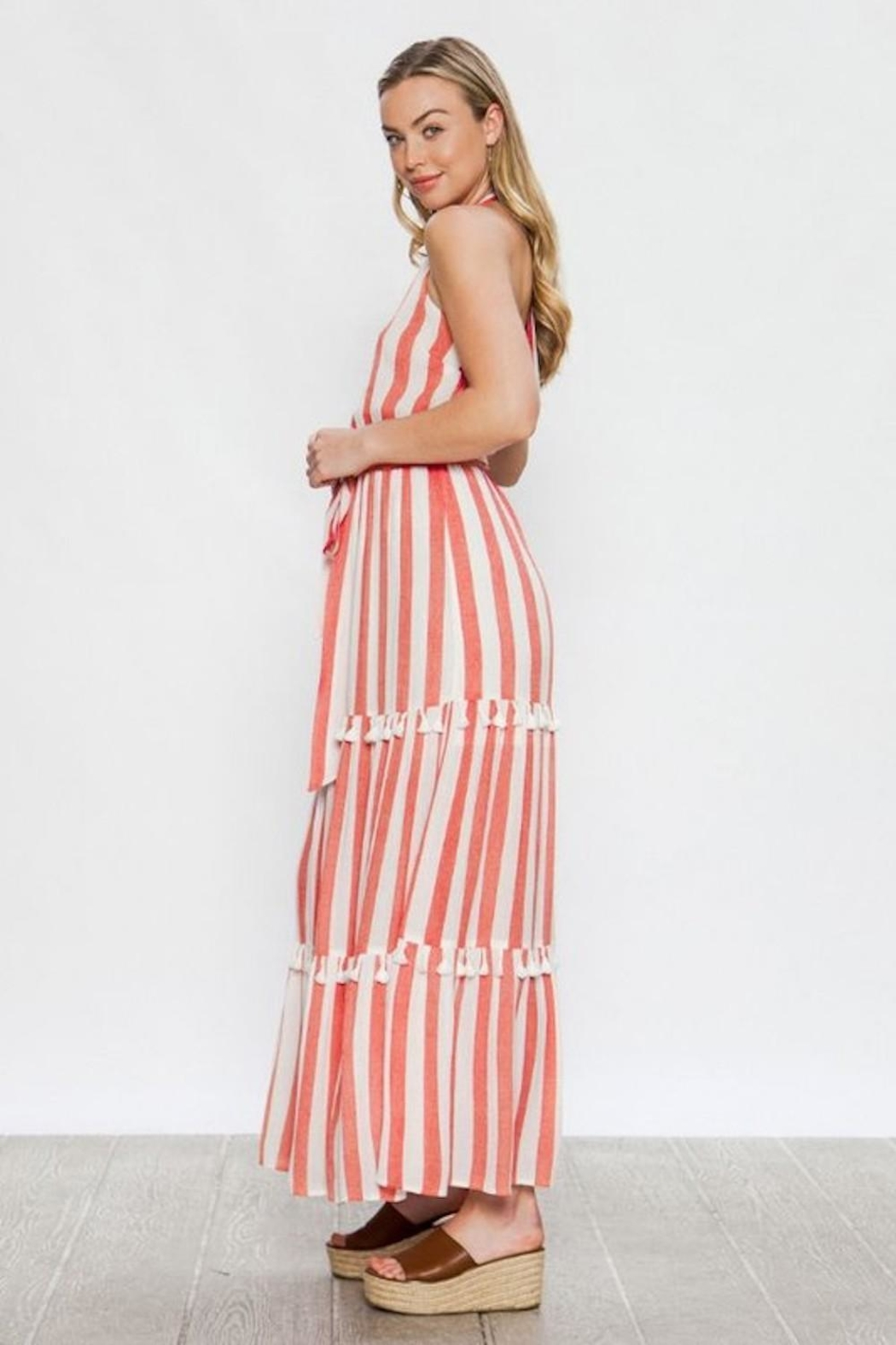Flying Tomato Candy-Red Tassel Stripes - Side Cropped Image