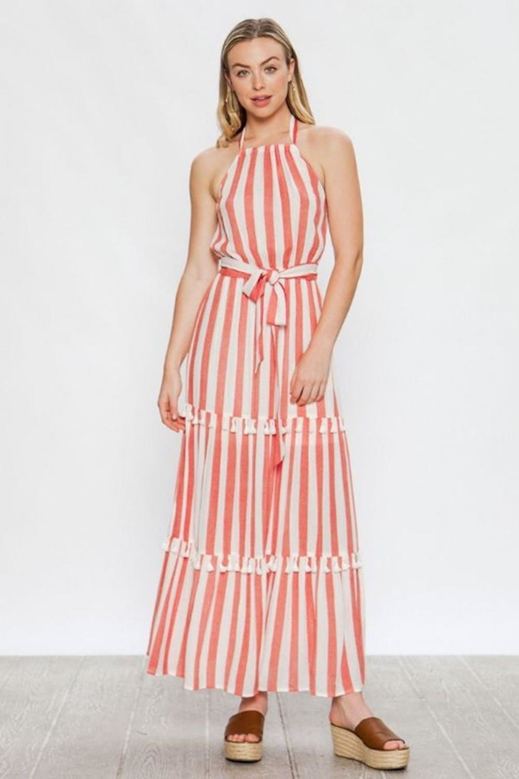 Flying Tomato Candy-Red Tassel Stripes - Front Full Image