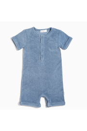 Miles Baby Candy Sky Terry Cloth Romper - Product Mini Image