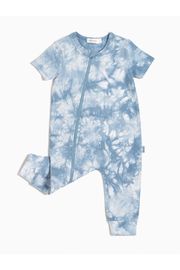 Miles Baby Candy Sky Tie-Dy Zip Sut - Front cropped
