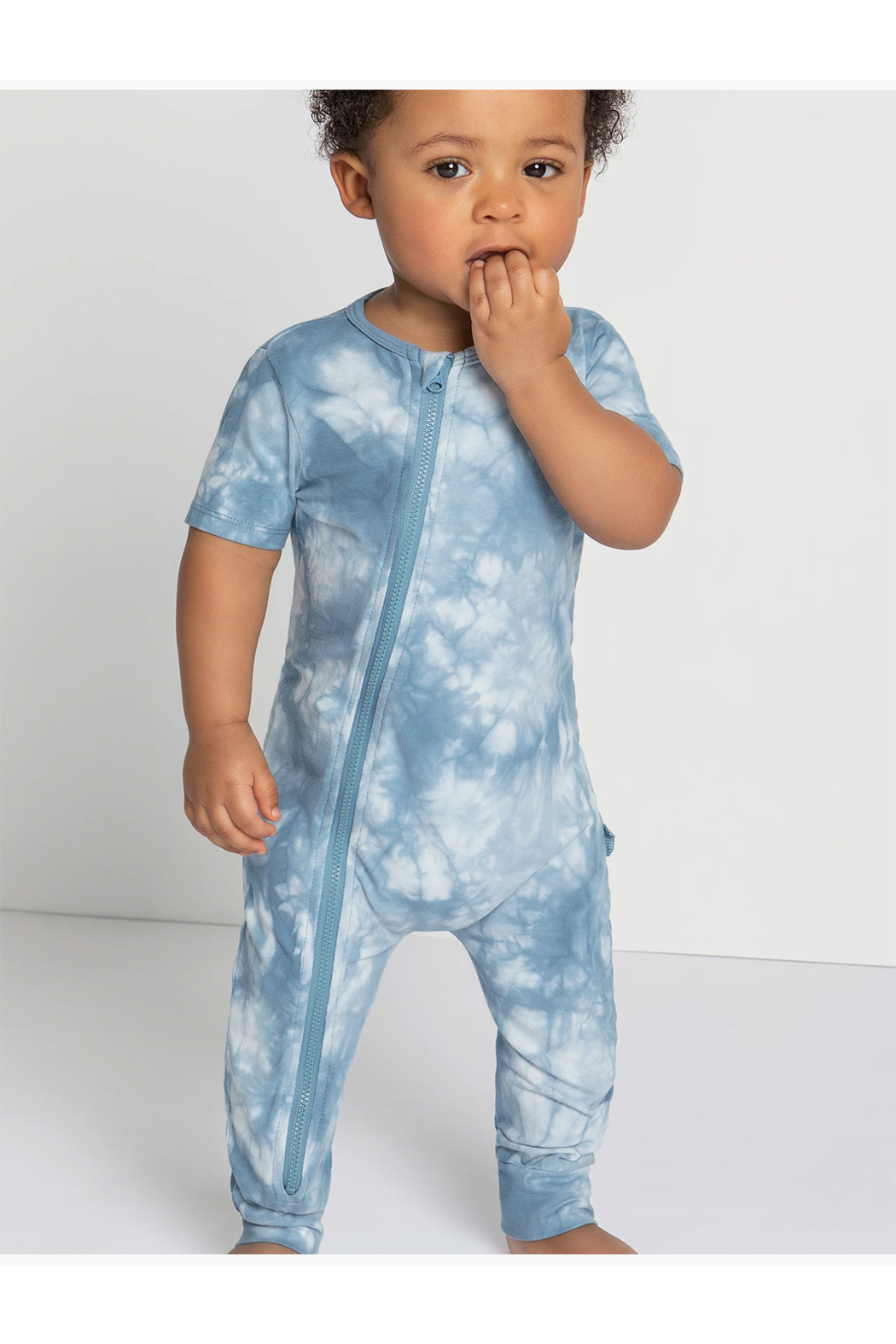 Miles Baby Candy Sky Tie-Dy Zip Sut - Front Full Image
