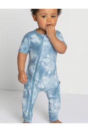 Miles Baby Candy Sky Tie-Dy Zip Sut - Front full body