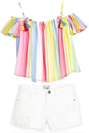 Mayoral Candy-Stripe Chiffon Blouse - Other