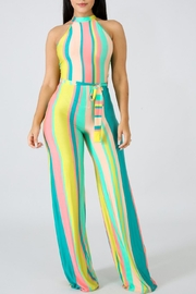 Good Time Candy Stripe Jumpsuit - Product Mini Image