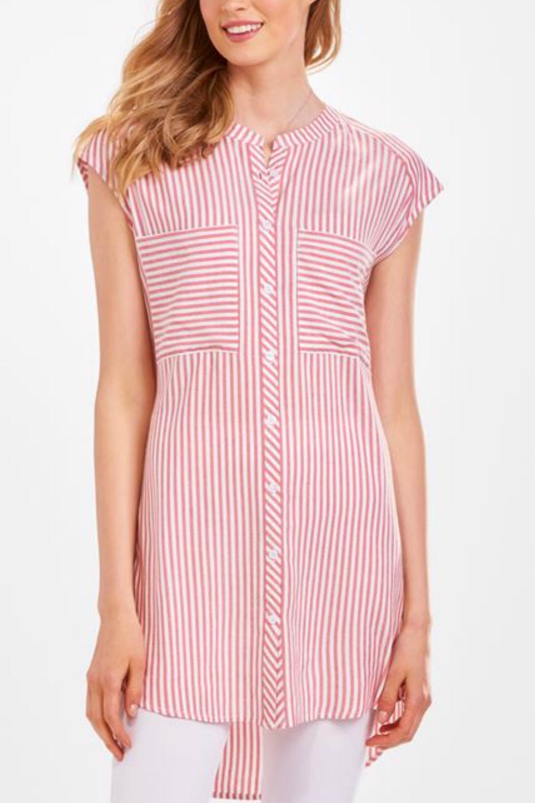 Charlie Paige Candy Stripe Tunic - Front Cropped Image