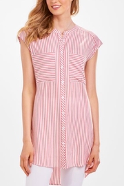 Charlie Paige Candy Stripe Tunic - Front cropped
