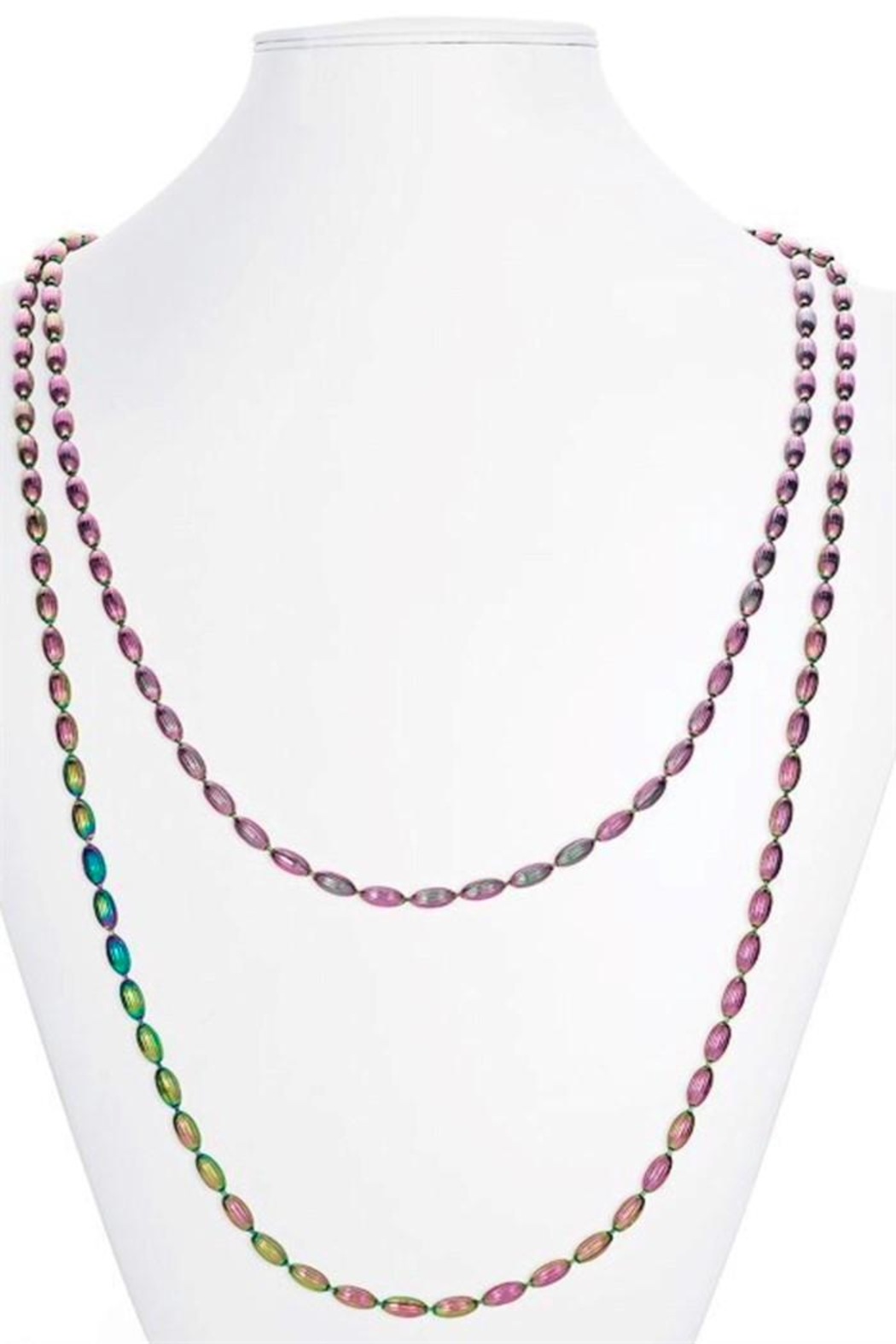 Candy Shop Vintage Rice Bead Necklace - Front Cropped Image