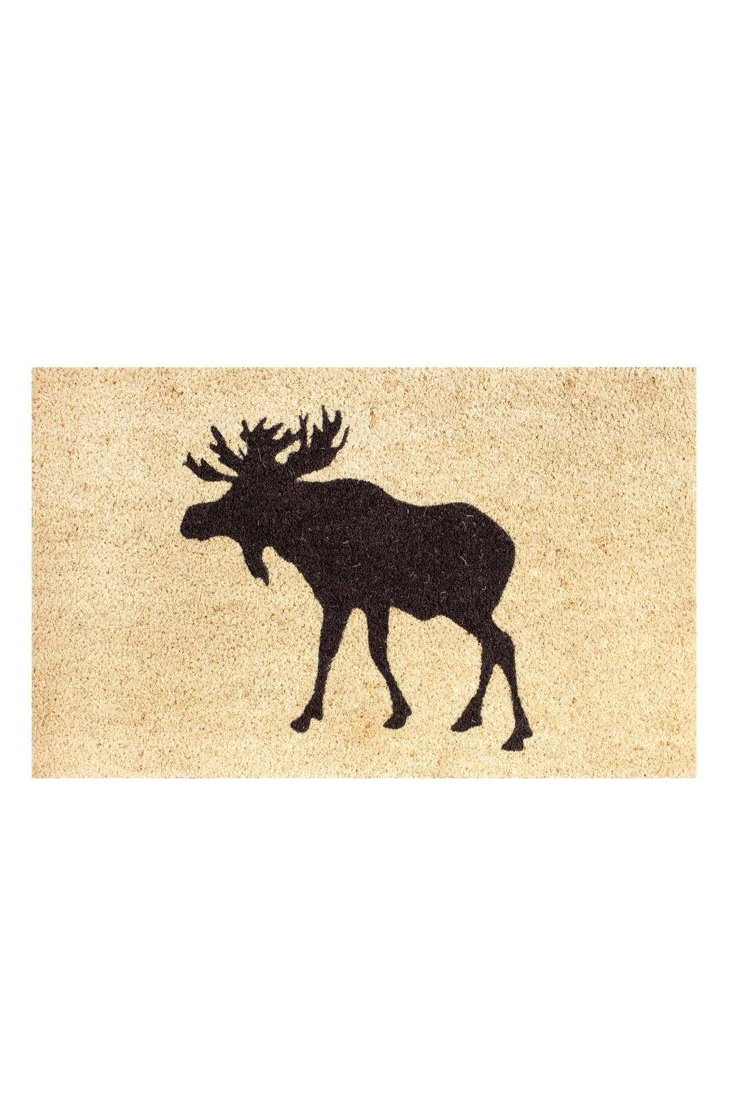 Candym Moose Coir Mat - Front Cropped Image