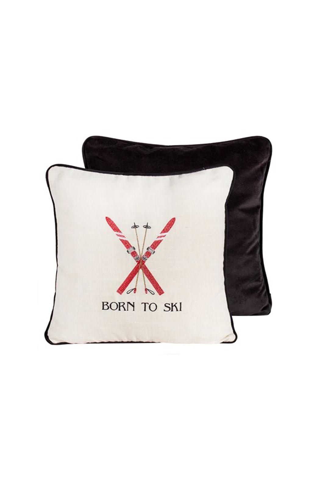 Canfloyd Born To Ski Toss Pillow From Canada By Mountain