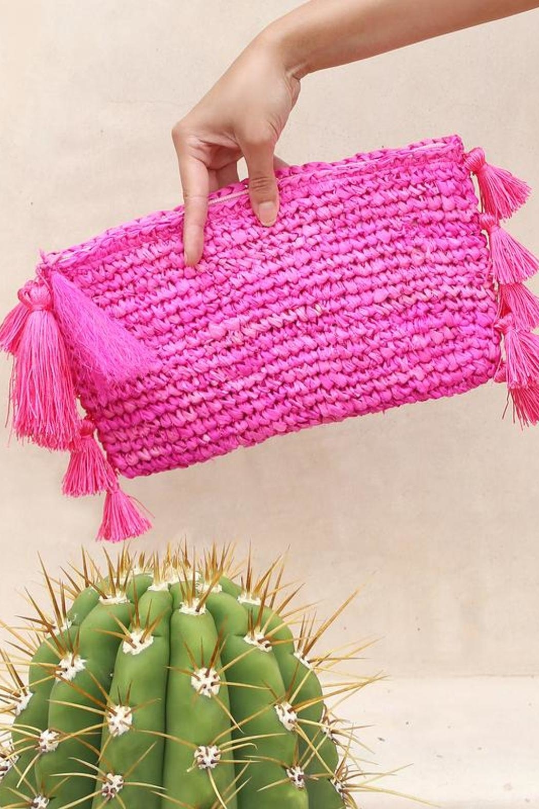 Brunna Co Canggu Woven Clutch - Main Image