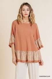 Umgee USA Cannon Clay Tunic - Product Mini Image