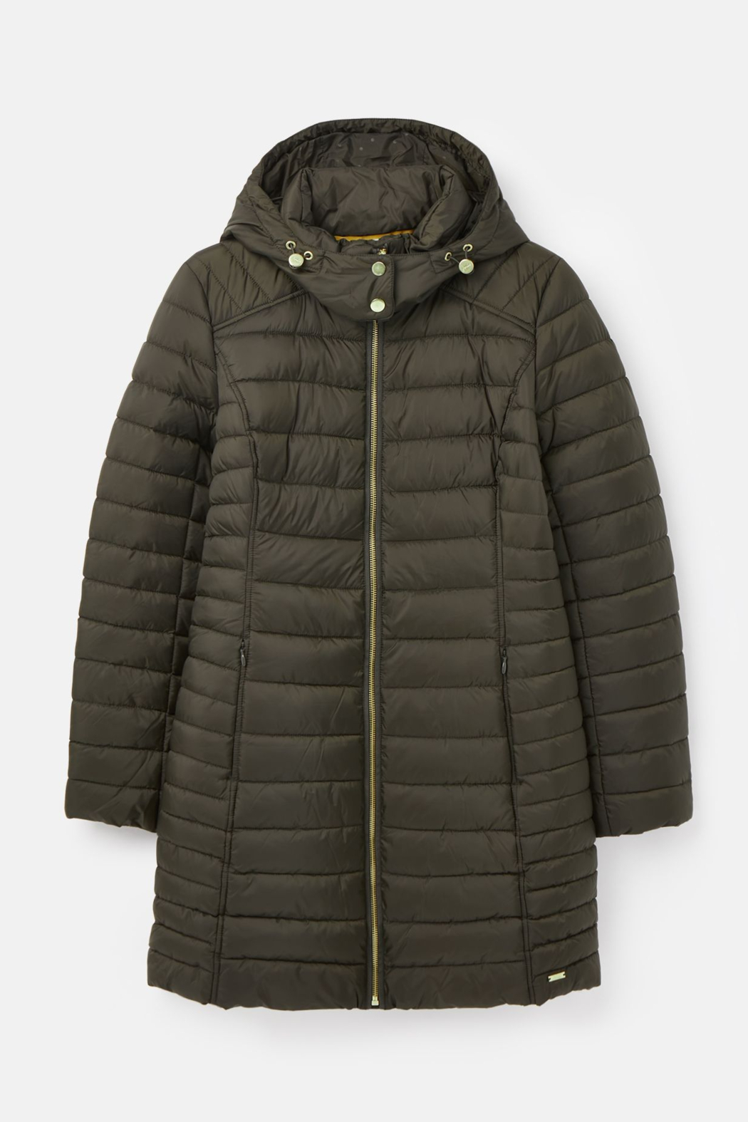 Joules Canterbury Long Luxe Padded Jacket - Back Cropped Image
