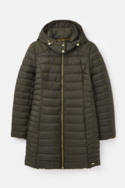 Joules Canterbury Long Luxe Padded Jacket - Back cropped