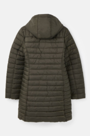 Joules Canterbury Long Luxe Padded Jacket - Front full body