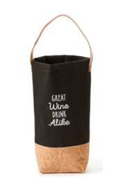 Giftcraft Inc.  Canvas and Cork Wine Bag - Product Mini Image
