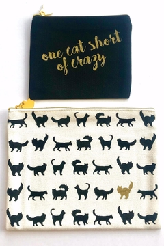 Two's Company Canvas Cat Pouches - Alternate List Image