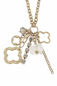 Canvas Charm Cluster Necklace - Alternate List Image