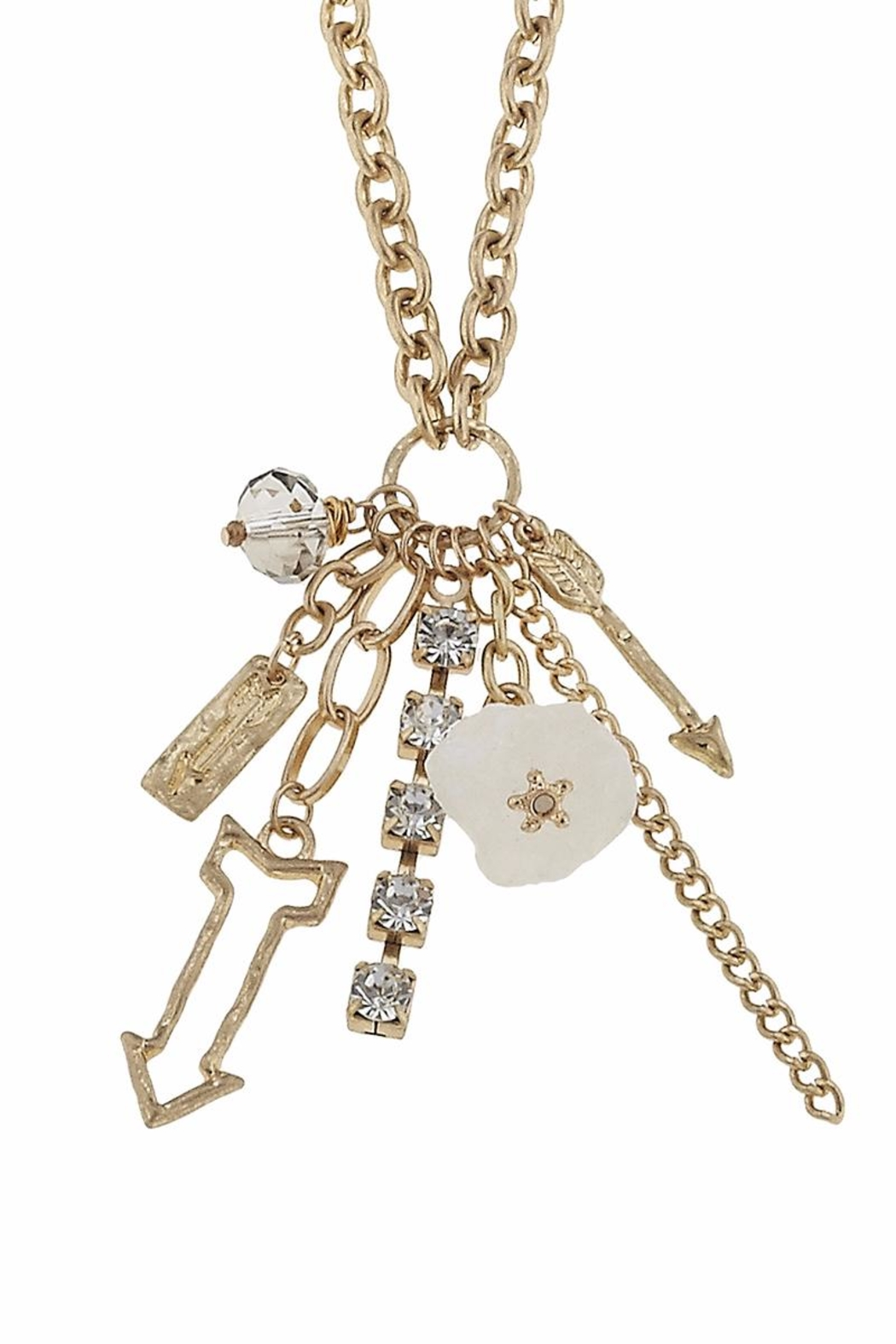 Canvas Charm Cluster Necklace - Front Cropped Image