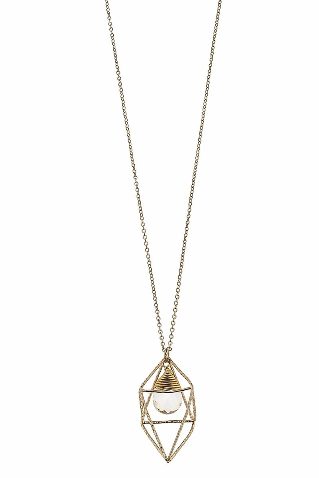 Canvas Clear Geometric Necklace - Front Cropped Image