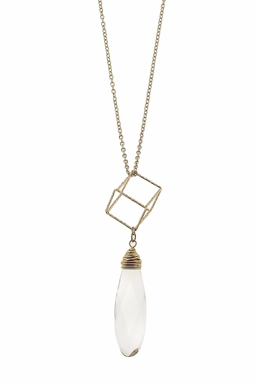 Canvas Clear Geometric Necklace - Main Image