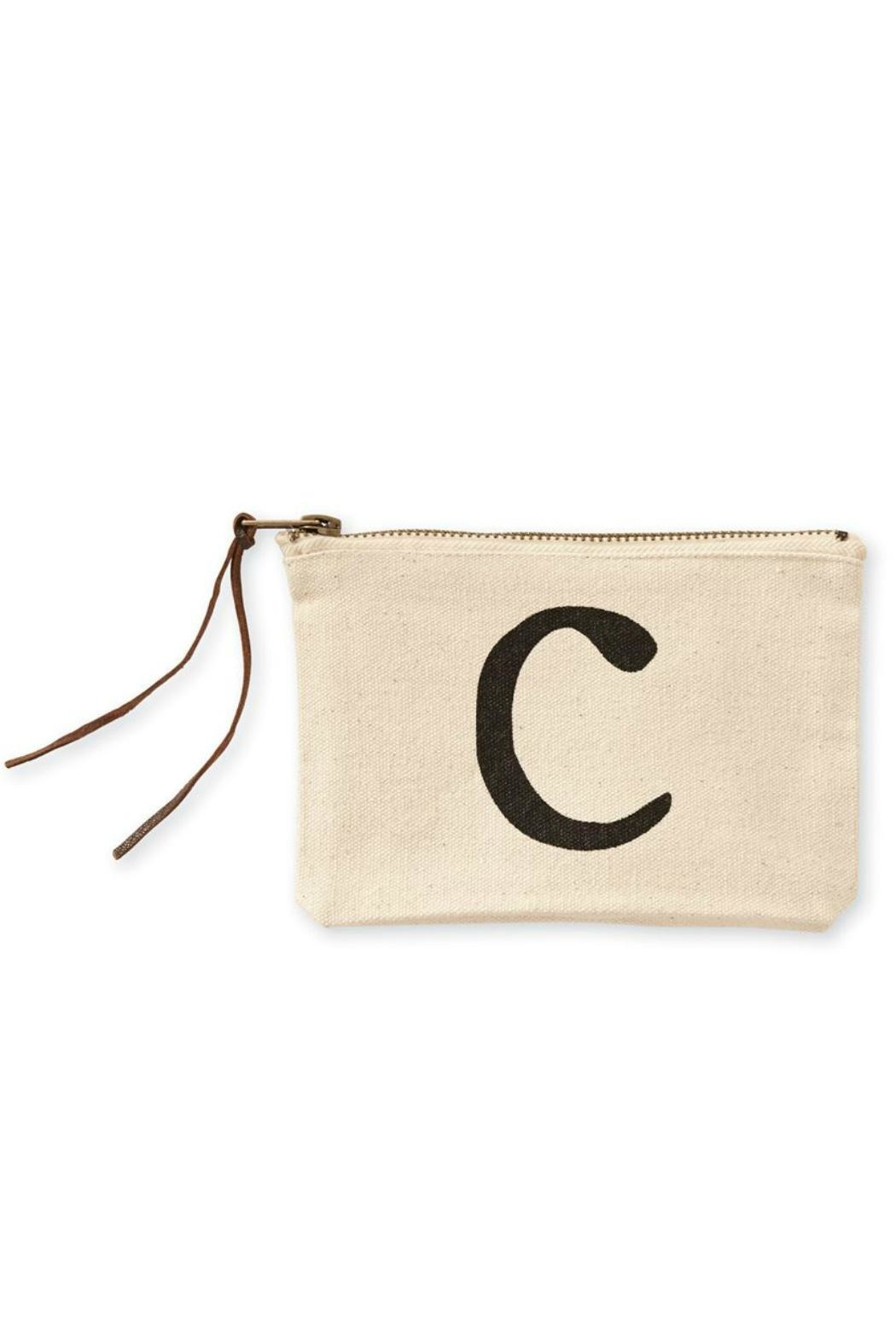 Mud Pie Canvas Cosmetic Bag - Back Cropped Image