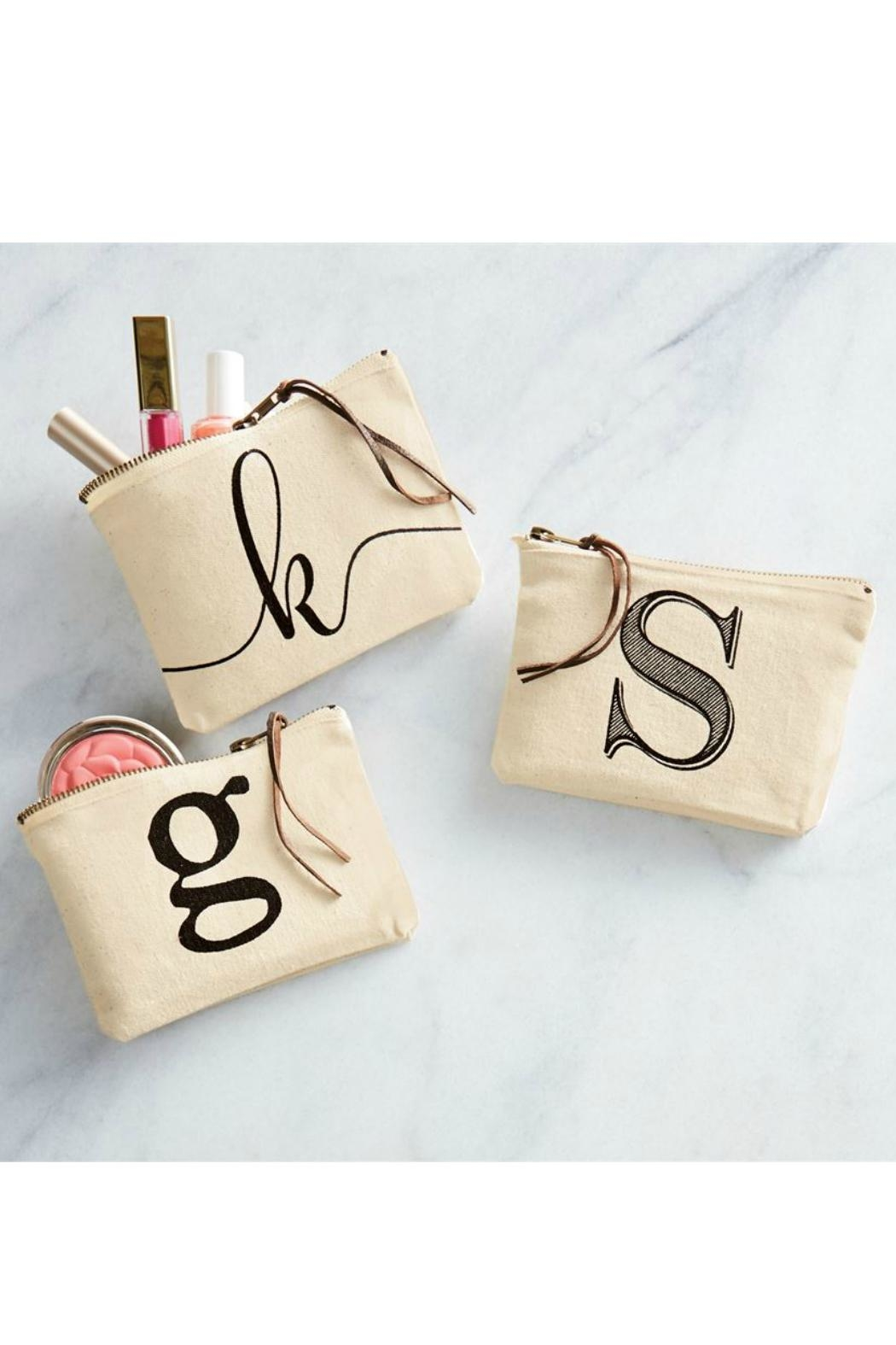 Mud Pie Canvas Cosmetic Bag - Front Full Image