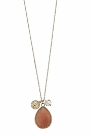 Canvas Gemstone Teardrop Pendent - Front cropped