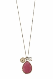 Canvas Gemstone Teardrop Pendent - Front full body