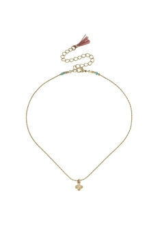 Canvas Gold Quatrefoil Choker - Product List Image