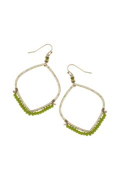 Canvas Green Bead Earring - Product List Image