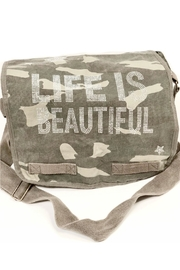 hipchik Couture Canvas Green Camo Crystal Studded Messenger Bag - Product Mini Image