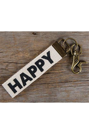 Natural Life Canvas-Happy Key Chain - Product Mini Image