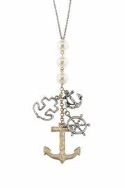 Canvas Pearl Charm Cluster - Front cropped