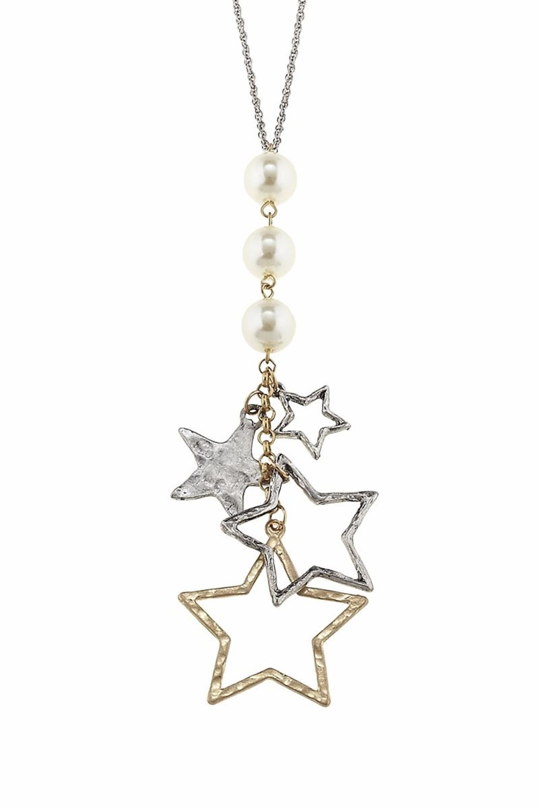Canvas Pearl Charm Cluster - Front Cropped Image