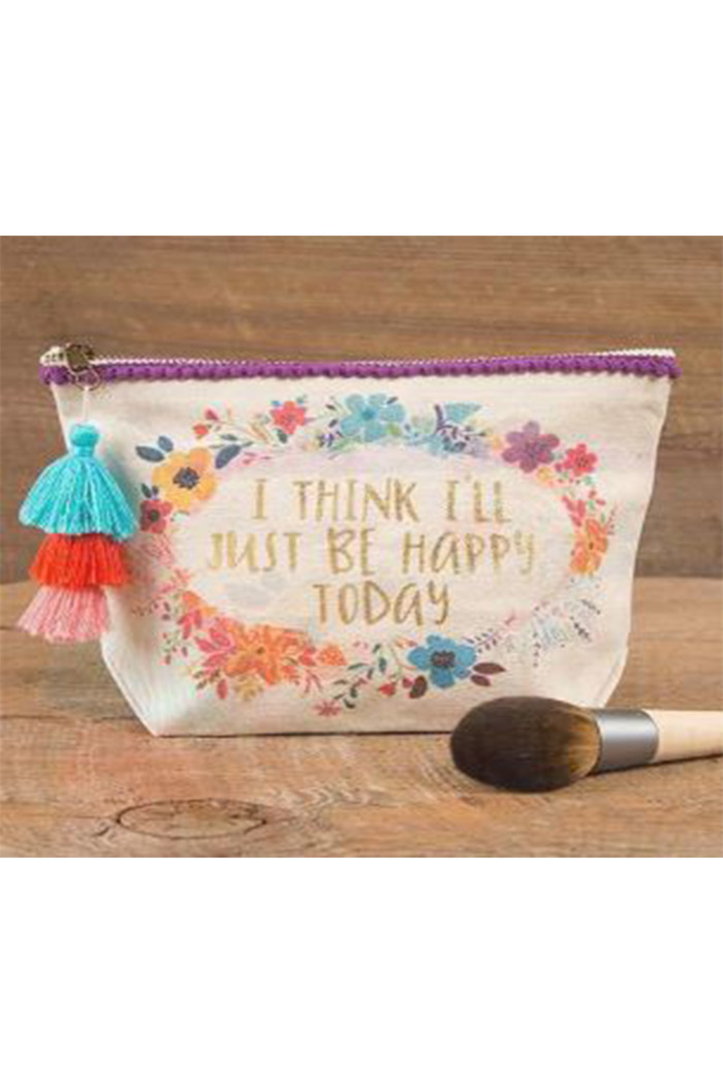 Natural Life Canvas Pouch Happy Today - Main Image
