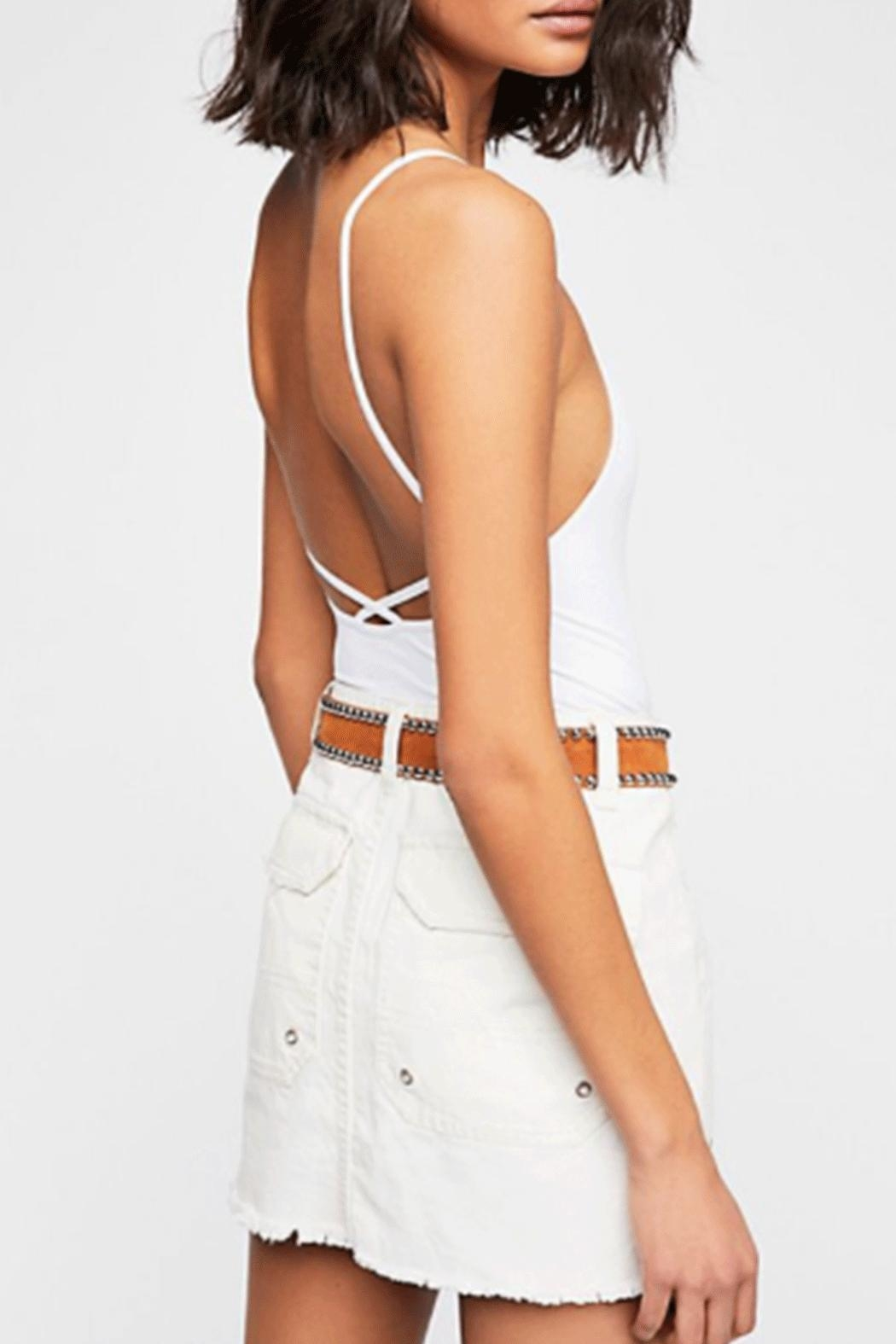 Free People Canvas Relaxed Skirt - Side Cropped Image