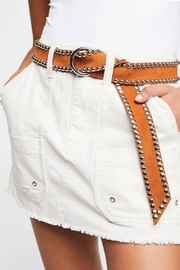 Free People Canvas Relaxed Skirt - Front full body