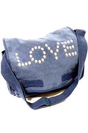 hipchik Couture Canvas Studded Love Messenger Bag - Product Mini Image