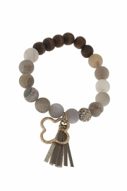 Canvas Tassel Gemstone Bracelet - Front full body