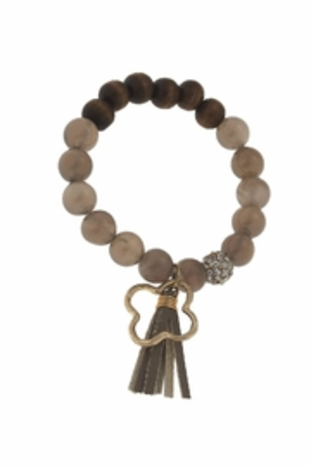 Canvas Tassel Gemstone Bracelet - Main Image