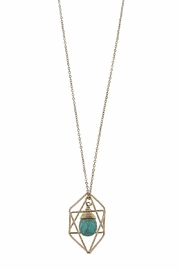 Canvas Turquoise Geometric Necklace - Side cropped