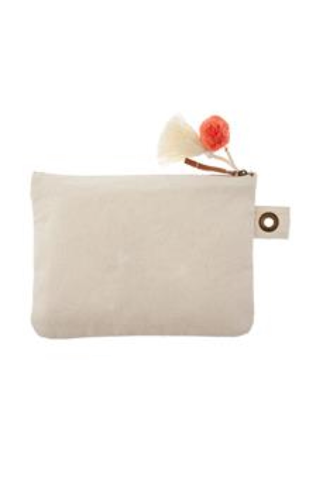 Karma Canvas Zip Pouch - Front Full Image