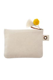 Karma Canvas Zip Pouch - Front full body