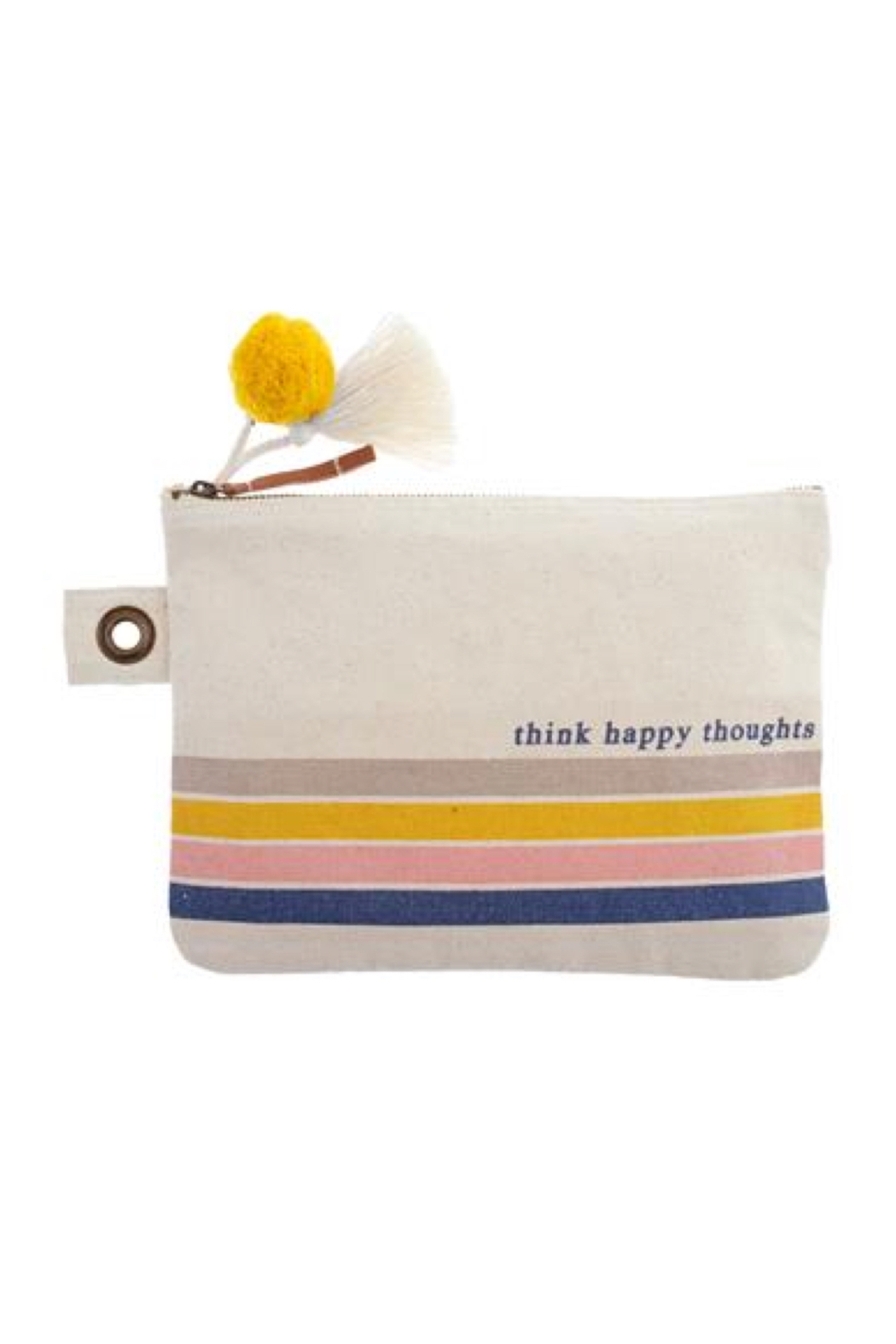 Karma Canvas Zip Pouch - Front Cropped Image