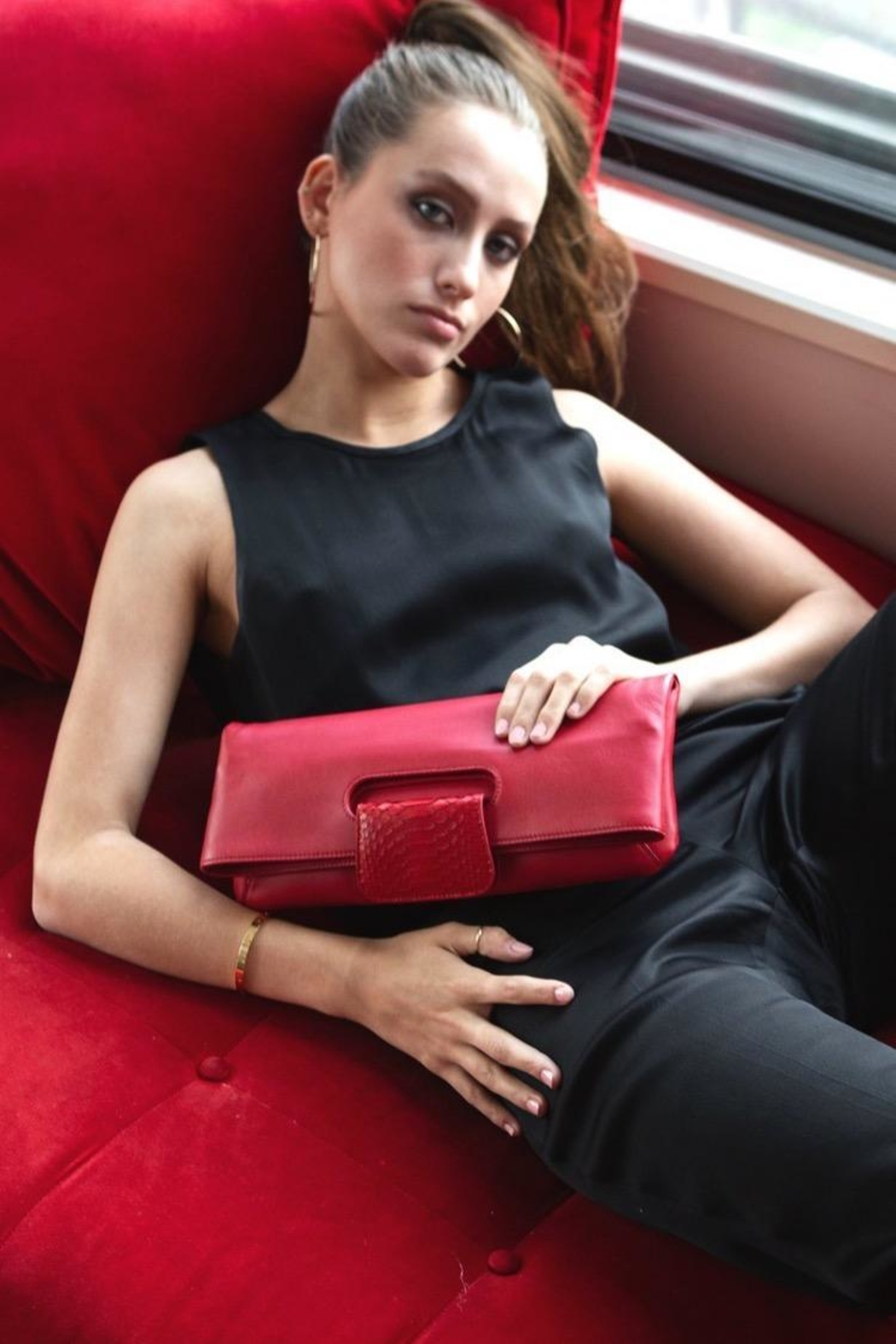 Canvas & Hyde Florentine Folding Clutch - Front Full Image