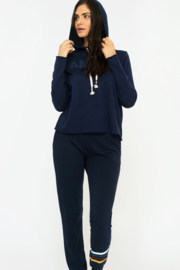 Sol Angeles Canyon Crop Hoodie - Indigo - Side cropped