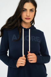 Sol Angeles Canyon Crop Hoodie - Indigo - Front cropped