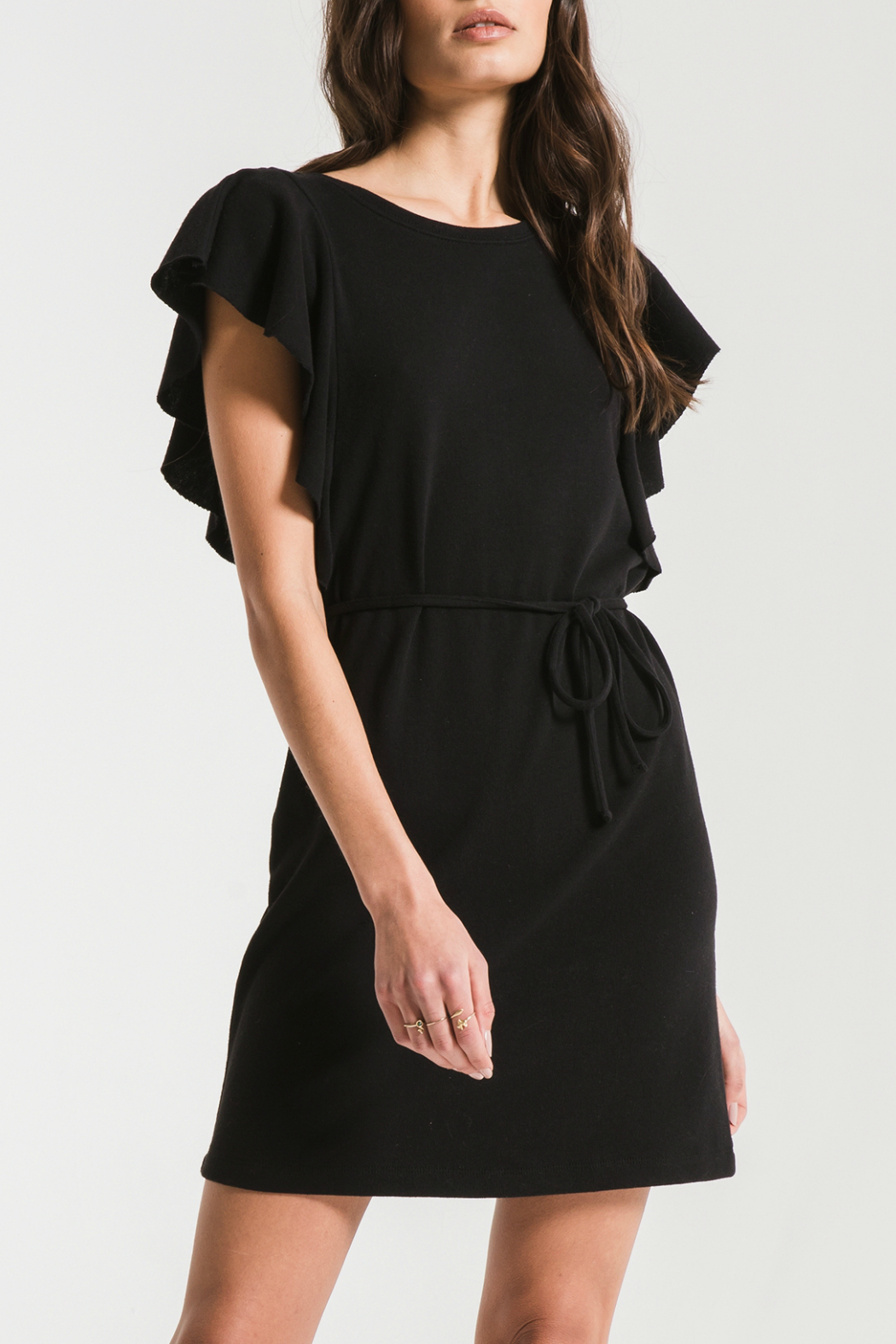 z supply Cap Ruffle Sleeve Dress - Main Image