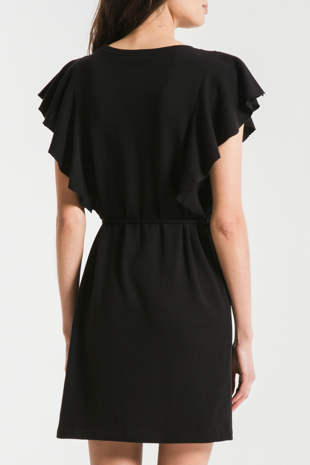 z supply Cap Ruffle Sleeve Dress - Side Cropped Image