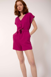 FRNCH Cap-Sleeve Cotton Romper - Product Mini Image